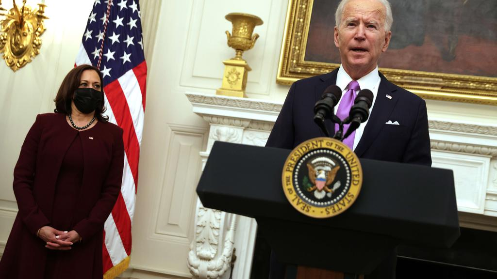 President Joe Biden Discusses His Administration''s Covid Response Plan And Signs Executive Orders