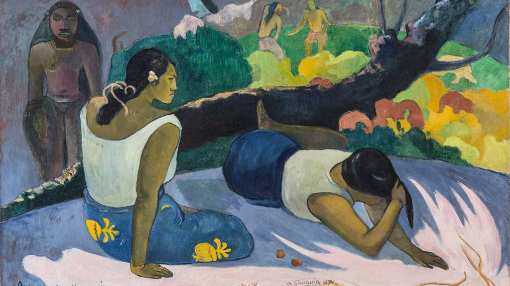 Arearea no Varua ino. The Amusement of the Evil Spirit, 1894, Paul Gauguin, MIN 1832 © Ny Carlsberg Glyptotek (1).jpg