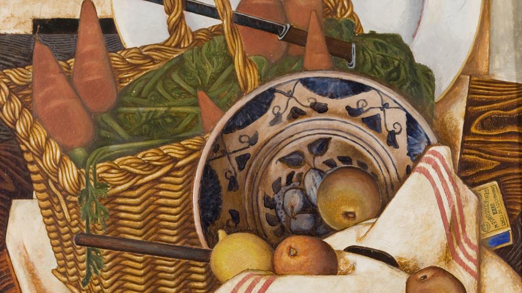 Georg Jacobsen, Nature Morte (Au panier des carottes), 1921. Ribe Kunstmuseum.jpg