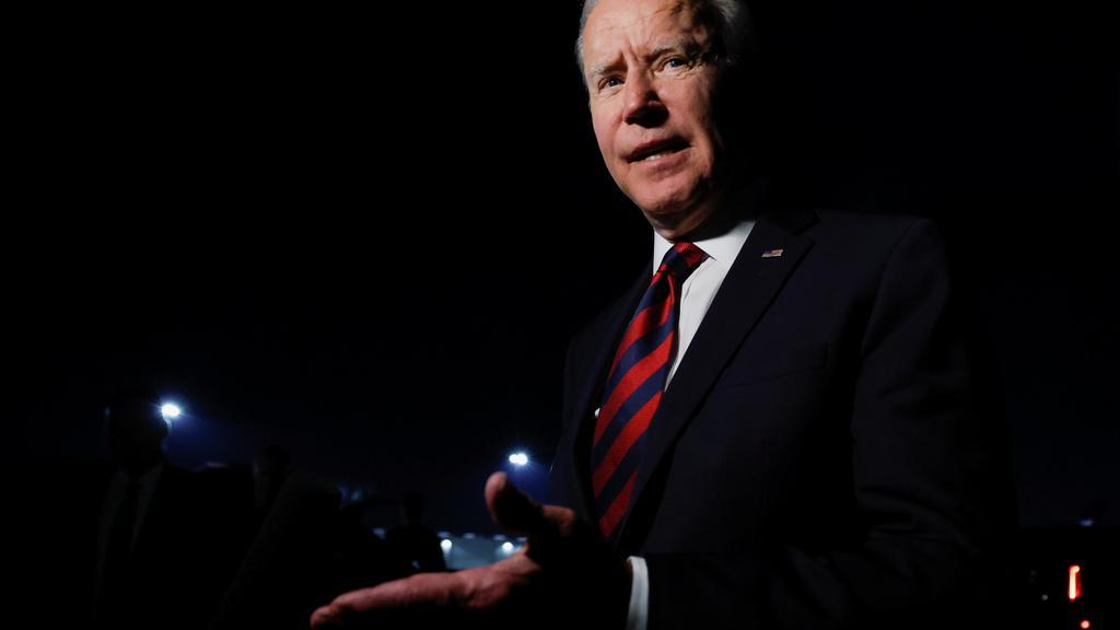 U.S. President Joe Biden returns to Washington from Cincinnati/Northern Kentucky International Airport in Hebron