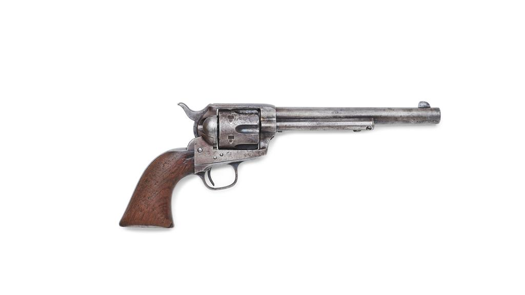 The Colt single action revolver used by Sheriff Pat Garrett to kill U.S. outlaw Billy the Kid in July 1881