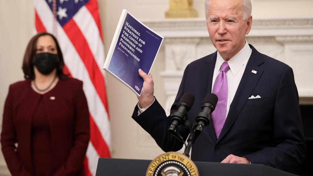 U.S. President Biden holds coronavirus response event at the White House in Washington