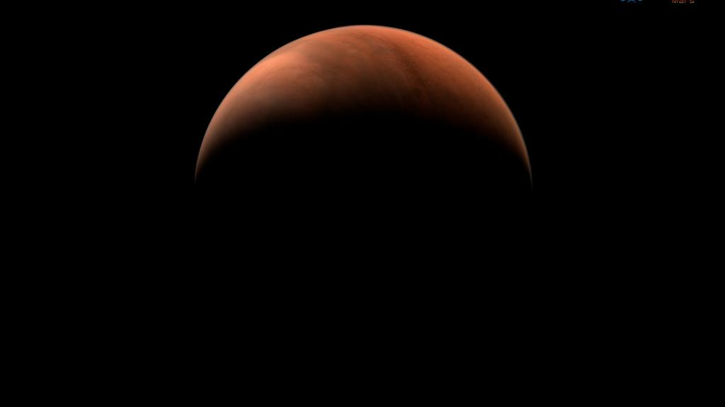 Handout image of Mars taken by China''s Tianwen-1 unmanned probe