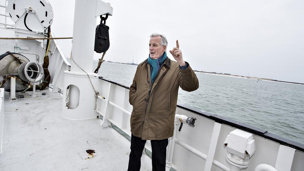 EUs brexit-forhandler Michel Barnier møder danske fiskere i Thyborøn