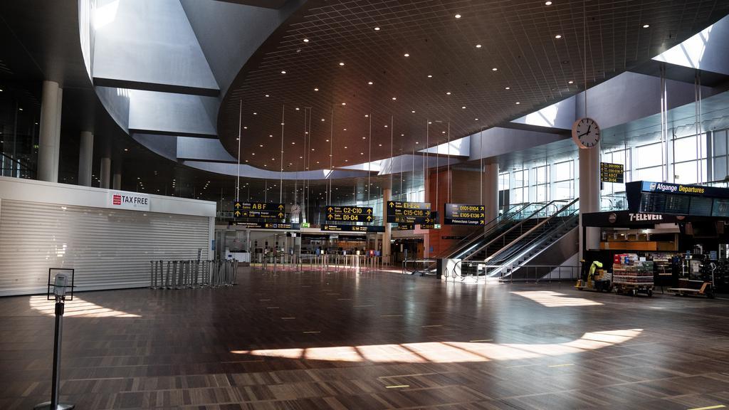 DENMARK An empty Copenhagen Airport due to fear of corona virus.