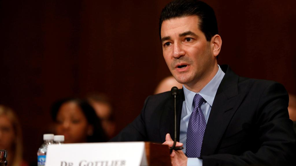 Dr. Scott Gottlieb testifies before a Senate Health Education Labor and Pension Committee confirmation hearing on his nomination to be commissioner of the Food and Drug Administration on Capitol Hill in Washington