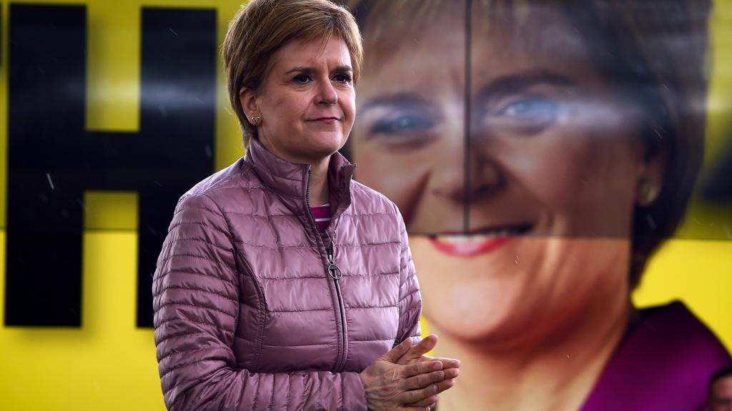 FILE PHOTO: Scotland''s First Minister and SNP leader Sturgeon campaigns in Dumbarton