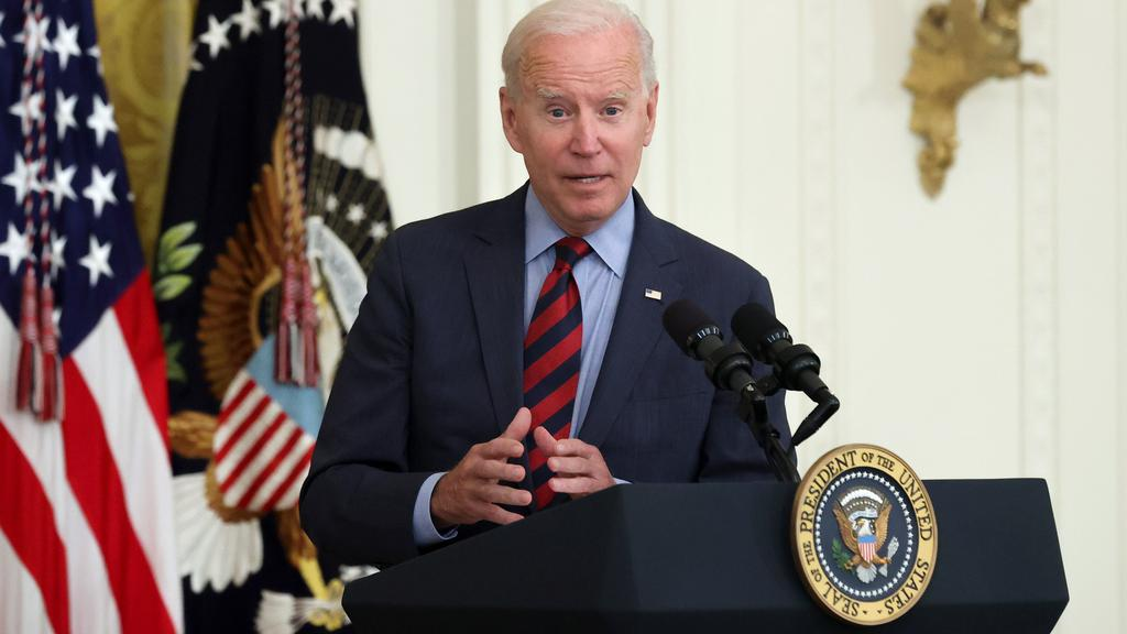 U.S. President Biden delivers remarks at the White House in Washington