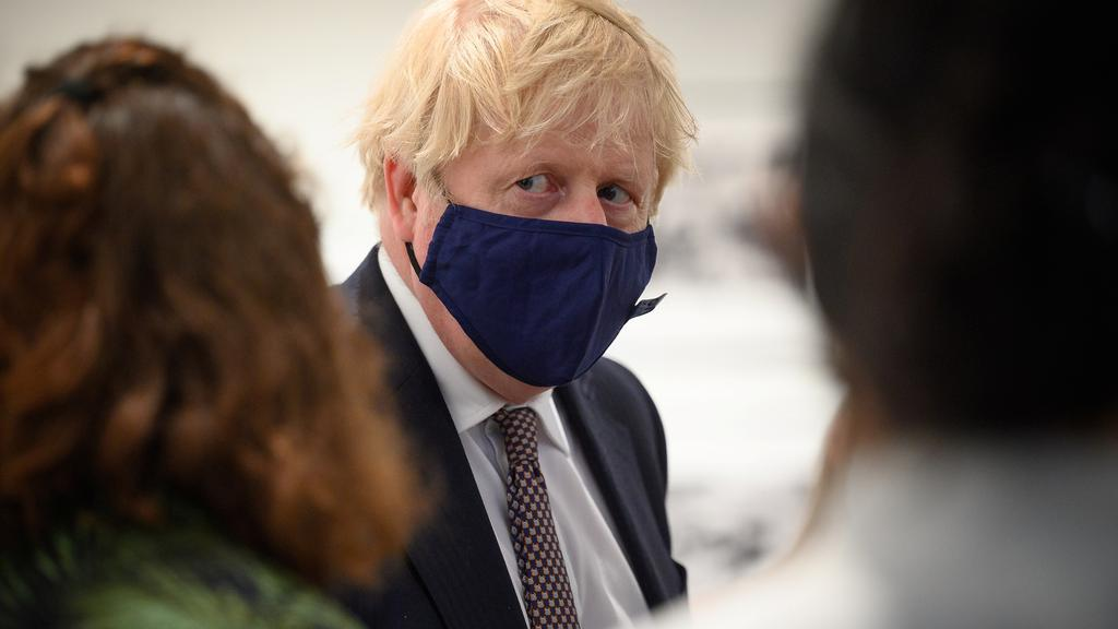 Britain''s PM Johnson visits Falmouth before G7 Summit