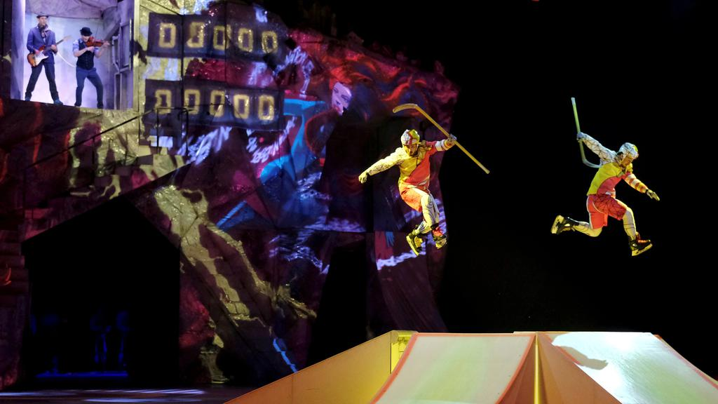 FILE PHOTO: Artists perform during Cirque du Soleil''s Crystal show in Riga
