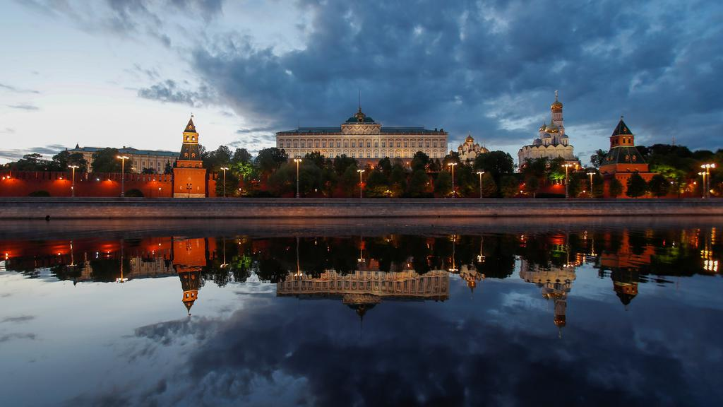 Kremlin is reflected in the Moskva river as the spread of the coronavirus disease (COVID-19) continues in Moscow