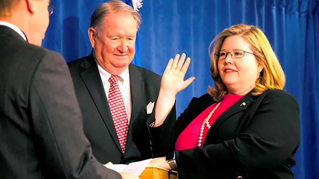 FILE PHOTO: U.S. General Services Administration Administrator Emily W. Murphy sworn in Washington